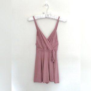 Urban Outfitter Kimini // Pink Wrap-Around Romper